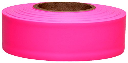 (Presco Products Safety Tape Flagging Taffeta Roll Pink 12/BX #TFPG)