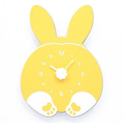 JQStar 壁掛け時計 木製 ハンドメイド 壁掛け時計 CHUBBY HIP ウェルシュ コーギー パンダ ウサギ 猫  フクロウ おしゃれ 壁掛時計 静音 かわいい (ウサギ) B076D761K4 ウサギ ウサギ