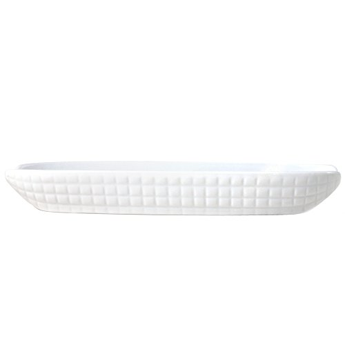 Omniware White Porcelain Corn Dish, Set of 4