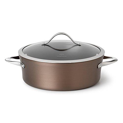 - Calphalon Contemporary Hard-Anodized Aluminum Nonstick Cookware, Dutch Oven, 5-quart, Bronze
