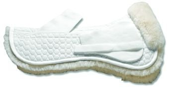 Mattes Sheepskin Correction Half Pad - Dressage - WHITE\L