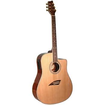 kona k1e acoustic electric dreadnought cutaway guitar in natural high gloss finish. Black Bedroom Furniture Sets. Home Design Ideas