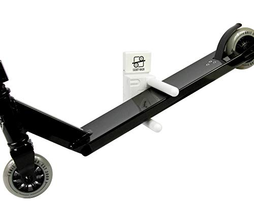 ROOT INDUSTRIES Scooter Wall Mount - Storage Solution for Freestyle Scooter Universal Wall Mount for Push Kick Setup of Any Size - Strong Easy to Install Wall Mount Holder for Any Rider (White)