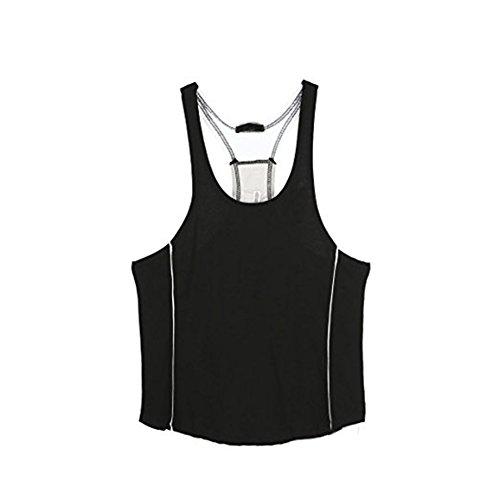 Stretch shirt Bodybuilding Fitness Chickwin Sport De Et Maillot Étét Manches Shirt Blanc Corps Muscle Blouse Sans Noir Tank Débardeur Homme Jogging Top AwAqPxtY