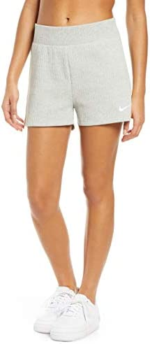 レディース カジュアルパンツ Nike Sportswear Rib Cotton Shorts [並行輸入品]
