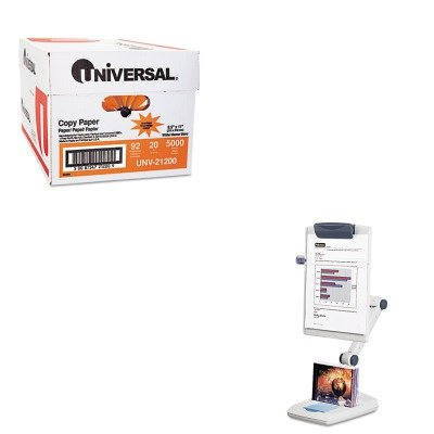 - Value Kit - Fellowes Weighted Flex Arm Desktop Copyholder (FEL21128) and Universal Copy Paper (UNV21200) (Fellowes Flex Arm)