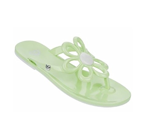 c84dfdd65565d Mel By Melissa Shoes Flower Mint Thong Sandal Flip Flops (3)  Amazon ...