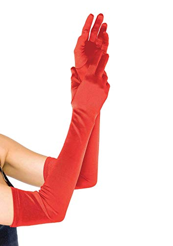Devil Costumes For Womens (Leg Avenue Women's Extra Long Satin Gloves, Red, One)