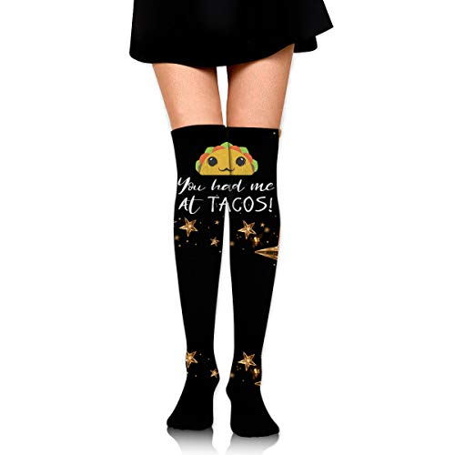 You Had Me At Tacos Womens Cosplay Over Knee Thigh High Socks Stocking ()