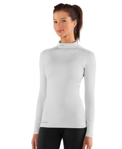 picture of Under Armour Women's ColdGear® Fitted Long Sleeve Mock Extra Large White