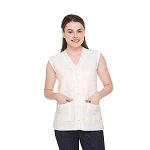 eWools Women Winter Wear Sleeveless Cardigan