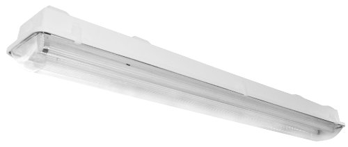 Lighting by AFX VTL254HOMV Industrial Grade Multi-Volt 2-32 Watt T12 Vaportite Light Fixture, Fiberglass Housing with Clear Acrylic Lens by Lighting by AFX