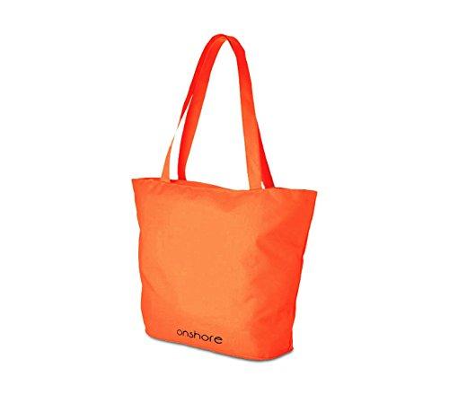 Borsa mare Onshore 382509 colori FLUO con doppio manico chiusura con zip. MEDIA WAVE store ® (Arancione)