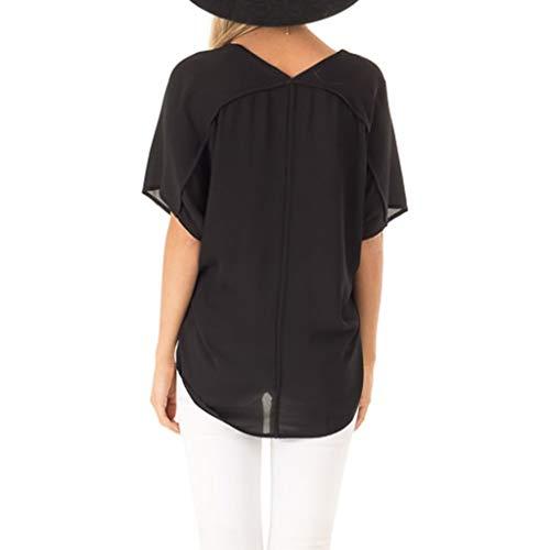 estiva basic T shirt manica donna Bobolover donna corta a Maglietta T originale da da abbinare da shirt 6RRxqzr