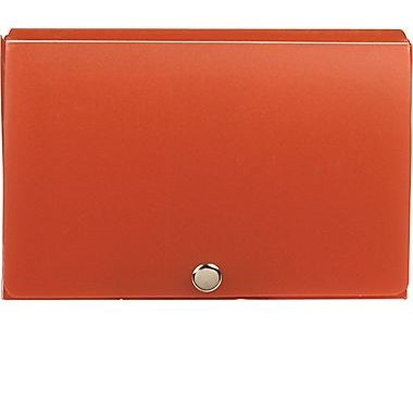 1InTheOffice Index Card Case, 3'' x 5'' Index Card Holder, Assorted Colors''4 Pack''