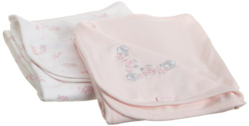 Little Me Baby-Girls Newborn Posies 2 Pack Receiving Blanket