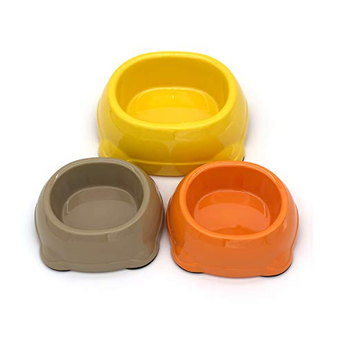 TerriTrophy Dog Bowls Super Design Plastic Pet Food Bowl Non Skid Food & Water Bowl for Small Medium to Large Dogs, Orange2