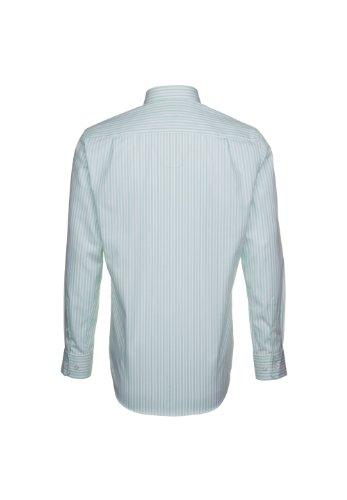 Seidensticker splendesto chemise pour homme coupe ajustée vert/blanc/rayures taille 39 à 47/186010.72