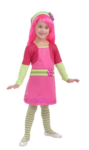 Rubies Strawberry Shortcake and Friends Raspberry Tart Costume, Medium (Shorts Strawberry Satin Shortcake)