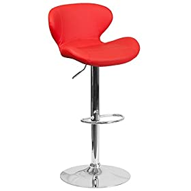 Flash Furniture Contemporary Black Vinyl Adjustabl...
