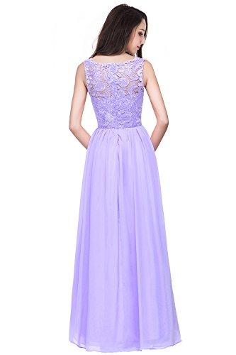 Lila Gr Abendkleider 2017 Bodenlang 32~46 Langes Spitze Babyonline® Partykleider Lilac Cocktailkleider Damen Euti q7zwBdxaS