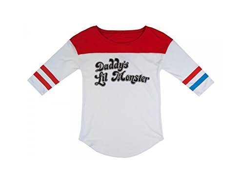 Monster Costumes Women (Suicide Squad Harley Quinn Daddy's Lil Monster Raglan XL)