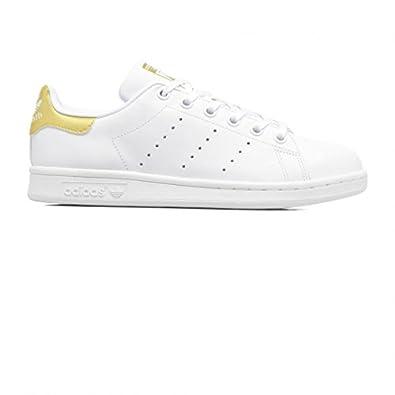 adidas Originals Chaussures Stan Smith Blanc Or JW e17: