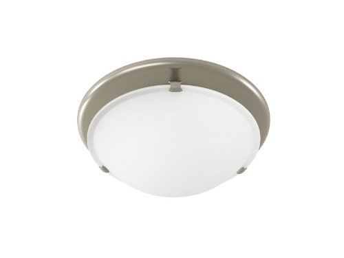 Exhaust Fan Light Combo - Broan 761BN Decorative Ventilation Fan with Light, 80 CFM 2.5 Sones, Brushed Nickel and White Opal Glass