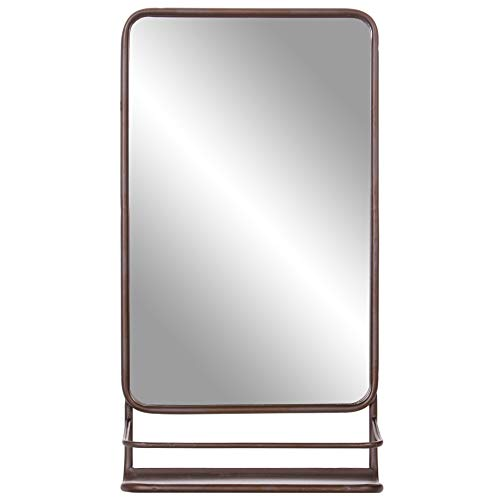 Bronze Metal Wall Accent Mirror with - Royal Bathroom Mirrors