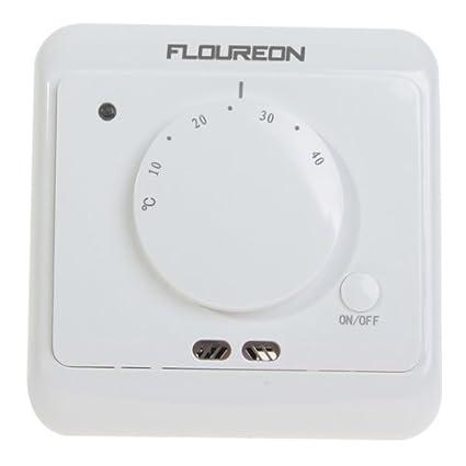 Calefacción por suelo radiante calefacción FLOUREON BYC12 16 A Universal Eletronik-termostato calefacción del regulador