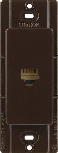 Lutron CA-PJ-BR Claro Telephone Jack, Brown