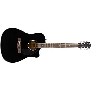 fender cd 60sce acoustic electric guitar dreadnought body style black finish. Black Bedroom Furniture Sets. Home Design Ideas