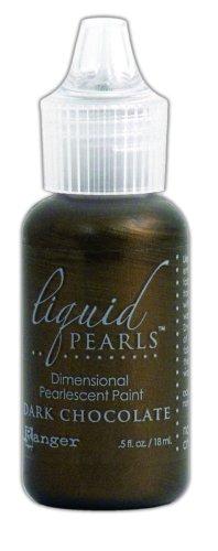 Ranger LPL-28123 Liquid Pearls Glue Paint, Dark Chocolate, 0.5-Ounce