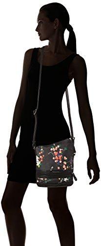 Tamaris - Smirne Crossbody Bag, Bolsos bandolera Mujer, Schwarz (Black Comb.), 30x7,5x22 cm (B x H T)