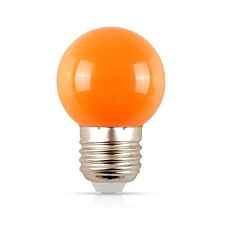 E27 Color naranja bombillas LED de 2 W E27 lámparas globo Bola bombillas de luz de Navidad de vacaciones 220 V: Amazon.es: Iluminación
