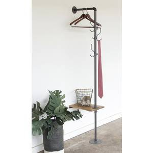 Industrial Wall Mount Pipe Rack with Shelf by Retail Resource