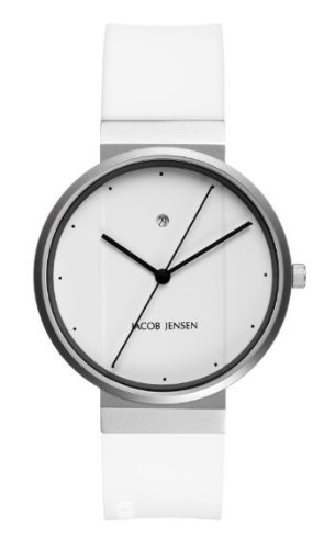 Jacob Jensen 754 Mens All White Watch