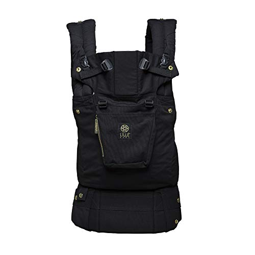 LÍLLÉbaby The Complete Original SIX-Position, 360° Ergonomic Baby & Child Carrier, Black/Gold - Cotton