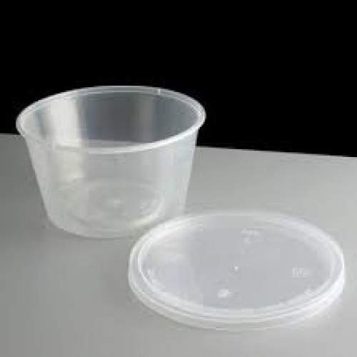 4oz Clear Plastic Containers+lids takeaway sauce microwave baby food portion pot