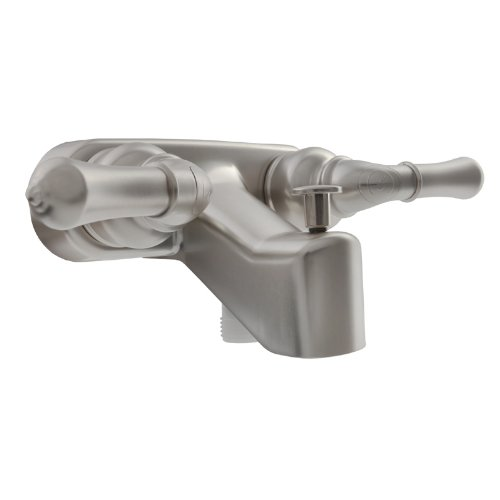 Dura Faucet (DF-SA110C-SN) RV Tub & Shower Faucet Valve Diverter - Brushed Satin Nickel Finish - For: Recreational (Tub To Shower Diverter)