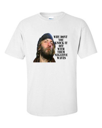 Not Just Nerds Men's Oddball Negative Waves Kellys Heroes T-Shirt Medium White