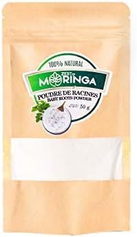 Moringa Oleifera Young Roots Powder - 100% Organic - Enhance Blood Circulation - Procure Vitality,DNA Force, Brain Force - Natural Source of Magnesium Selenium