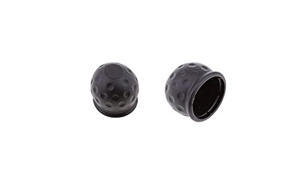 50mm //2 inch Homyl Pack of 2 Black Towing Hitch Towball Cap Covers for Trailer Van Car Auto Inner Diameter