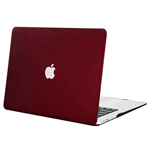 MOSISO MacBook Air 13 Case (Models: A1369 & A1466, Older Version 2010-2017 Release), Plastic Hard Shell Case Cover Only Compatible MacBook Air 13 Inch, Marsala Red