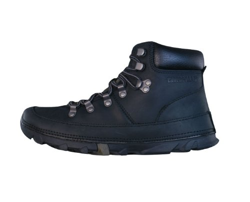 Caterpillar Brockton hommes Cuir Ankle Boots / Chaussures - noir