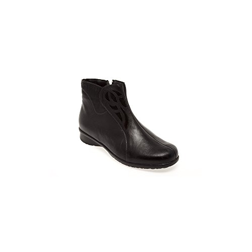 Fidelio 315501 80 Hallux Helga Gina Ankle Boot In Black Leather 40 Black
