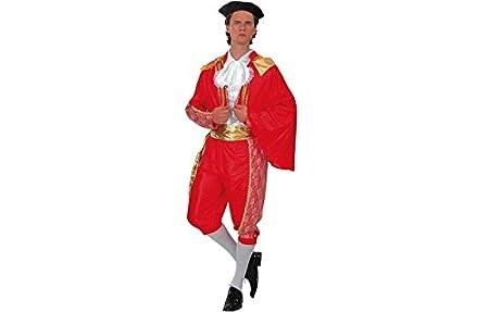 EL CARNAVAL Disfraz Torero Rojo Adulto: Amazon.es: Hogar