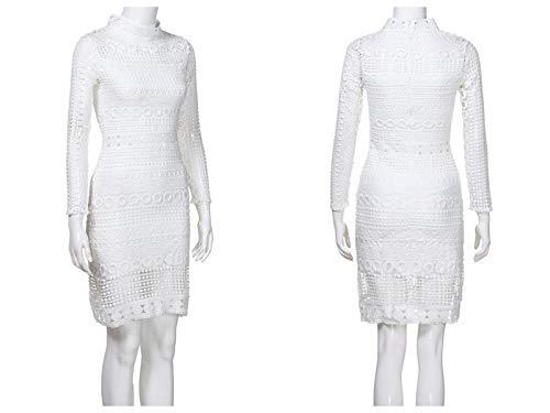 1 Sexy Ruffle Lace Women Sling Dress Summer White Halter Bow Z Beach Sundress Panel Dinlong qR6txWR