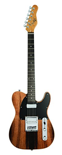 Michael Kelly CC55EB Excise Collection 1955 Solid-Body Electric Guitar, Striped Ebony