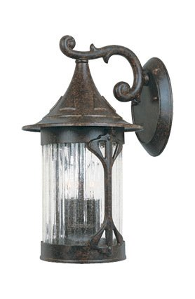 - Chestnut 3 Light 9in. Cast Aluminum Wall Lantern from Canyon Lake Collection